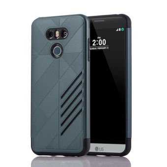Case For LG G6 TPU + PC Hybrid Combo Shockproof Back Case Cover(Navy Blue) - intl