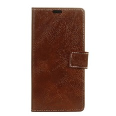 Case for LG U Crazy Horse Pattern Leather Wallet Case Cover (Brown) - intl