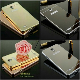 Case For Oppo Joy 3 / A11 Bumper Slide Mirror - Gold + .