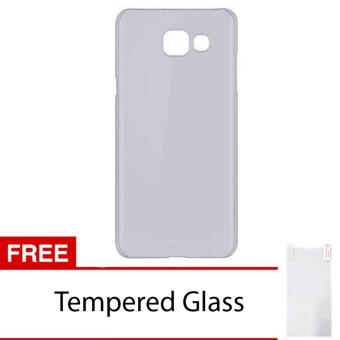 Case For Samsung Galaxy A7 2017 Ultrahin Air Case Series - Hitam +Free Tempered Glass