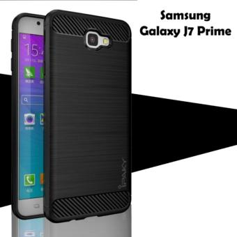 Case for Samsung Galaxy J7 Prime Ipaky Softcase Premium Texture Carbon Fiber CF TPU Silikon -