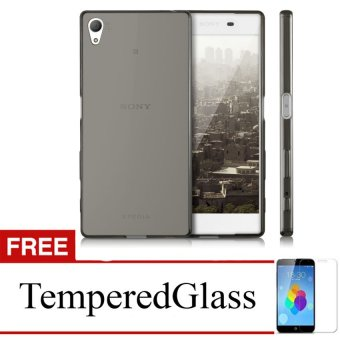 Case For Sony Xperia T2 - Abu-abu + Gratis Tempered Glass - Ultra Thin Soft Case