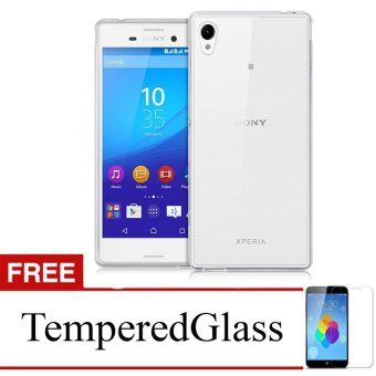 Case For Sony Xperia T3 - Clear + Gratis Tempered Glass - Ultra Thin Soft Case