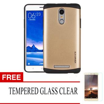 Case for Xiaomi Redmi Note 3 Slim Armor Series - Emas + Gratis Tempered Glass