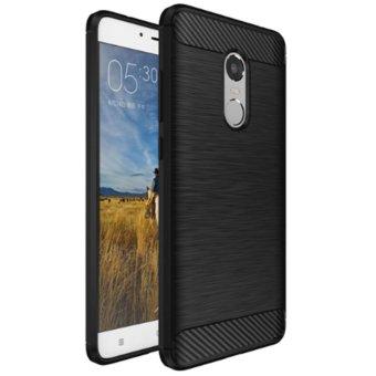 Case For Xiaomi Redmi Note 4 Slim Carbon Shockproof Hybrid Case Series- Hitam