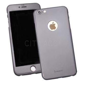 Case Front Back 360 Degree Full Protection for Apple iPhone 6 Plus / iPhone 6s Plus - Grey + Tempered Glass