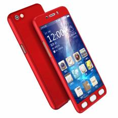 Case Front Back 360 Degree Full Protection for Oppo F1s / A59 - Red + Tempered Glass