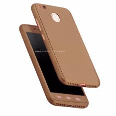 Case Front Back 360 Degree Full Protection for Xiaomi Redmi 4x - Gold + Tempered Glass
