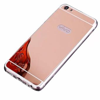 Case Metal for Vivo V5 (Y67) Aluminium Bumper With Mirror BackdoorSlide - Rose Gold