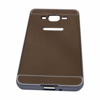 Case Samsung Galaxy J2 Prime Alumunium Bumper With Sleding Mirror / Metal Back Cover - Hitam