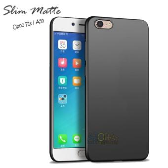 Case Slim Black Matte Oppo A59 / F1S Baby Skin Softcase Ultra Thin Jelly Silikon Babyskin