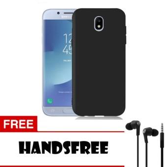 Case Slim Black Matte Samsung Galaxy J7 Pro Softcase Baby Skin + Free Handsfree
