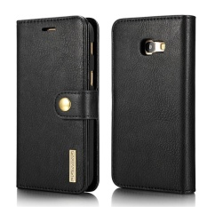 Case untuk Samsung Galaxy A5 (2017) A520 Cowhide Leather Case Flip Dompet Kartu Slot Cover (Hitam) -Intl