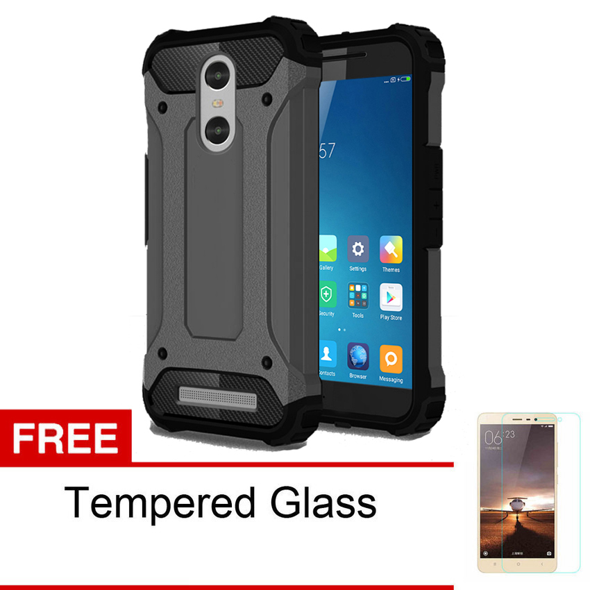 ... Frosted Shield Hardcase for Xiaomi Redmi 4 Prime Hitam Gratis Tempered