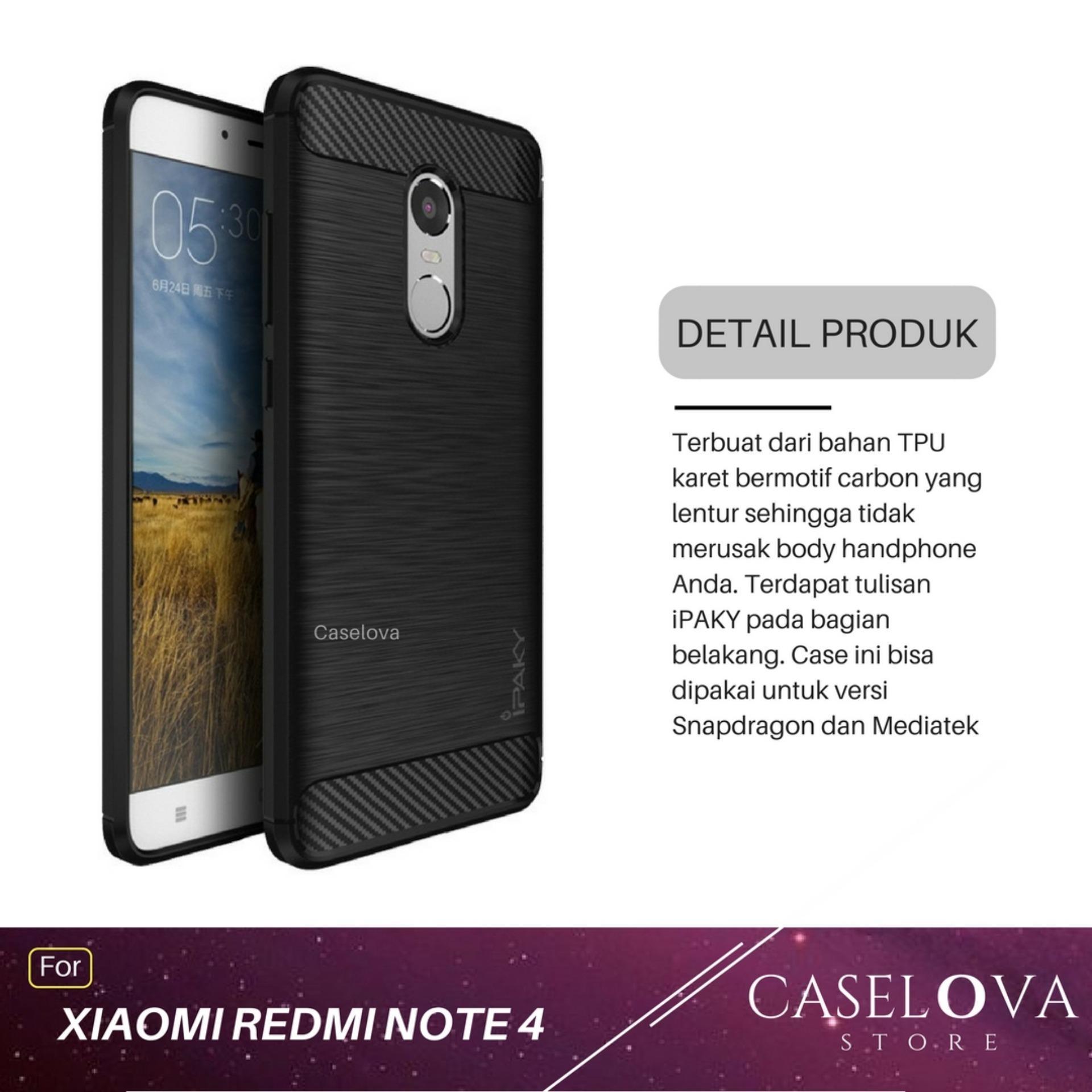 Peonia Premium Carbon Shockproof Hybrid Case For Xiaomi Redmi Note Transparent Acrylic 4x Snapdragon Tg Merah Note4x 4 Versi Source Shock Price Caselova