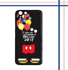 Casing gambar motif HARDCASE untuk hp Lenovo K5 K5 Plus mickey mouse quotes Q0193