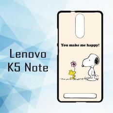 Casing Hardcase HP Lenovo K5 Note Snoopy You MAke me Happy X5682