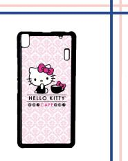 Casing HARDCASE untuk hp Lenovo A7000 Plus A7000 hello kitty cafe L0765