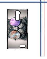Casing HARDCASE untuk hp Oppo R7 Plus Shades Cool Kitty Cat Eye Galaxy Nebula