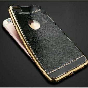 CASING LEATHER/KULIT IPHONE 6/6S SOFT BACK COVER CASE - HITAM