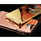 ... Casing Metal Bumper Mirror for Samsung Galaxy A3 (A310) - Gold + Free Tempere