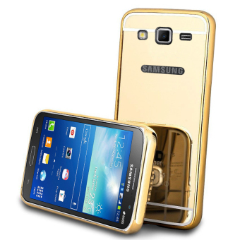 Casing Metal Bumper Mirror for Samsung Galaxy Grand 2 (7160) - Gold