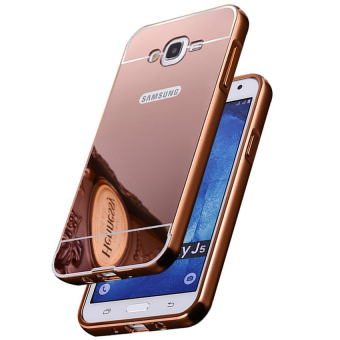 Harga Casing Metal Bumper Mirror for Samsung Galaxy J7 Rose Gold + FreeTempere Glass Terbaru klik gambar.