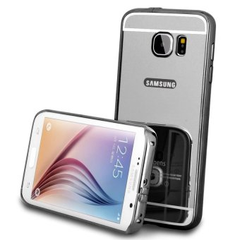 Casing Metal Bumper Mirror for Samsung Galaxy S7 - Black