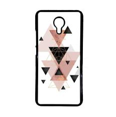 Casing Untuk Meizu M2 Note Geometric Triangles in blush and rose gold E1461