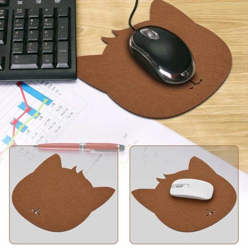 Cat bentuk anti-Static Felts tabel Mouse Pad kantor Tahan Debu meja .