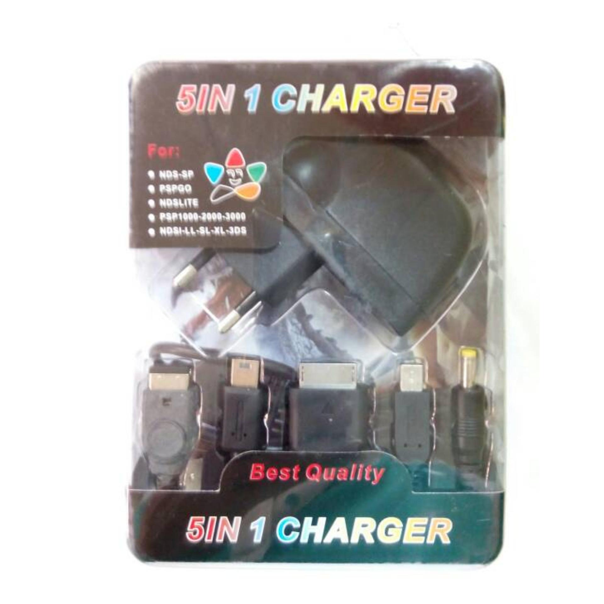 Perbandingan Harga Charger Adaptor Multi 5 In 1 Sony Psp Go Wifi Slim 2000 Hitam Fat Nds