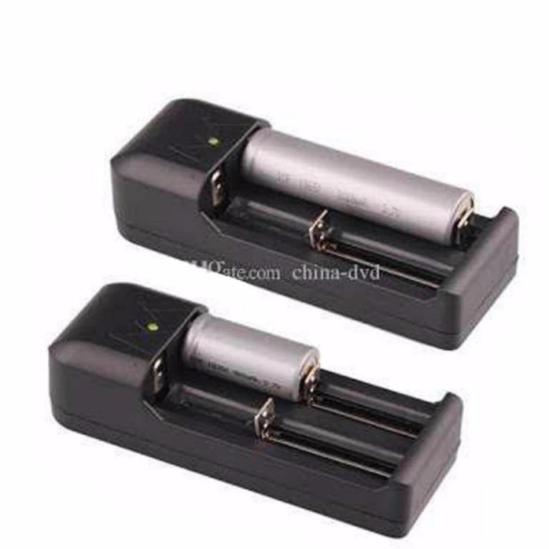 Charger Baterai Desktop 2 Slot Baterai Vape Rokok Eletrik AWT 18650 18350 18500 dan competible semua ...