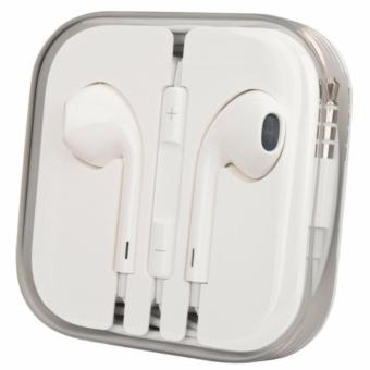 Charger Plus Kabel Data Lightning for iPhone 5G/C/S + Free HeadsetKabel - Putih - 4