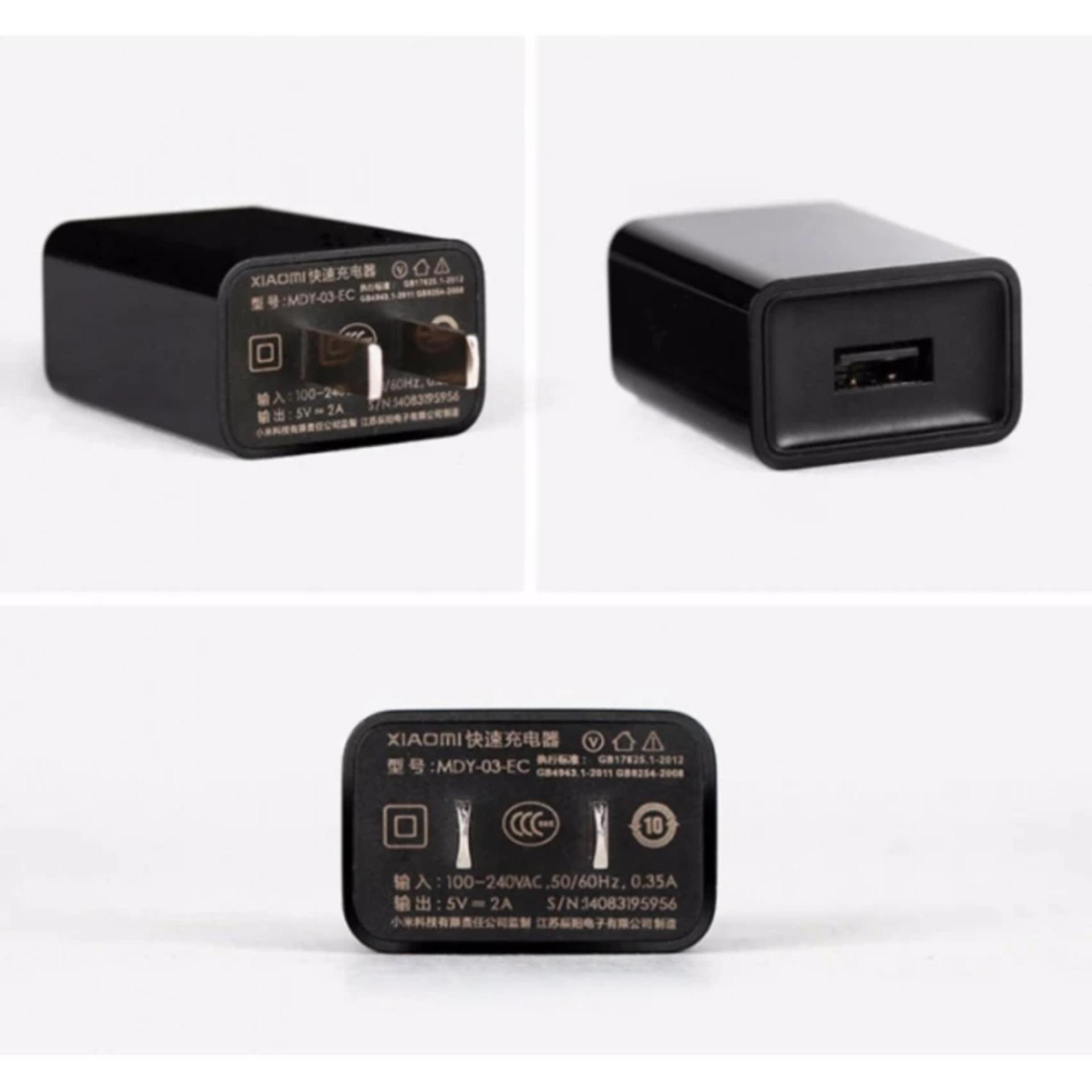 Charger Xiaomi Original 100% Authentic 5V-2A Fast Charging - Hitam + Free Steker ...