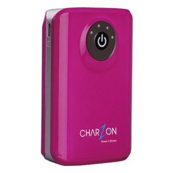 Charzon Power Bank - 8800 mAh - Merah Muda