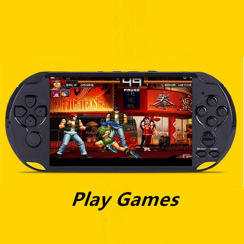 Classic Multifunction Multiple Languages 5 Inch 8G PortableHandheld PSP Game Console GBA Games