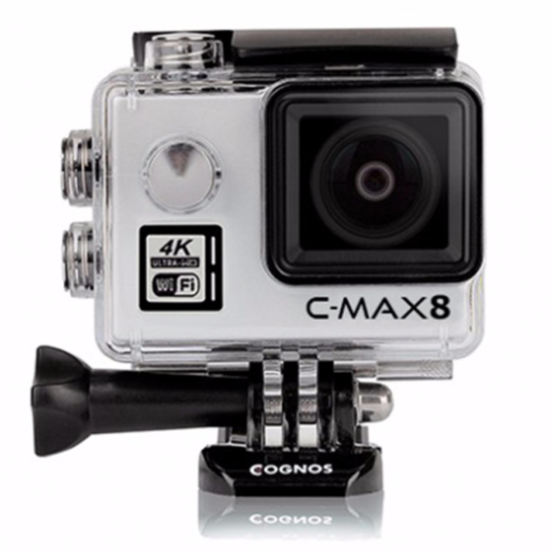 Eshop Checker Cognos Omega 4k C Max 8 Action Camera 16 Mp Mika Box Bagus Silver