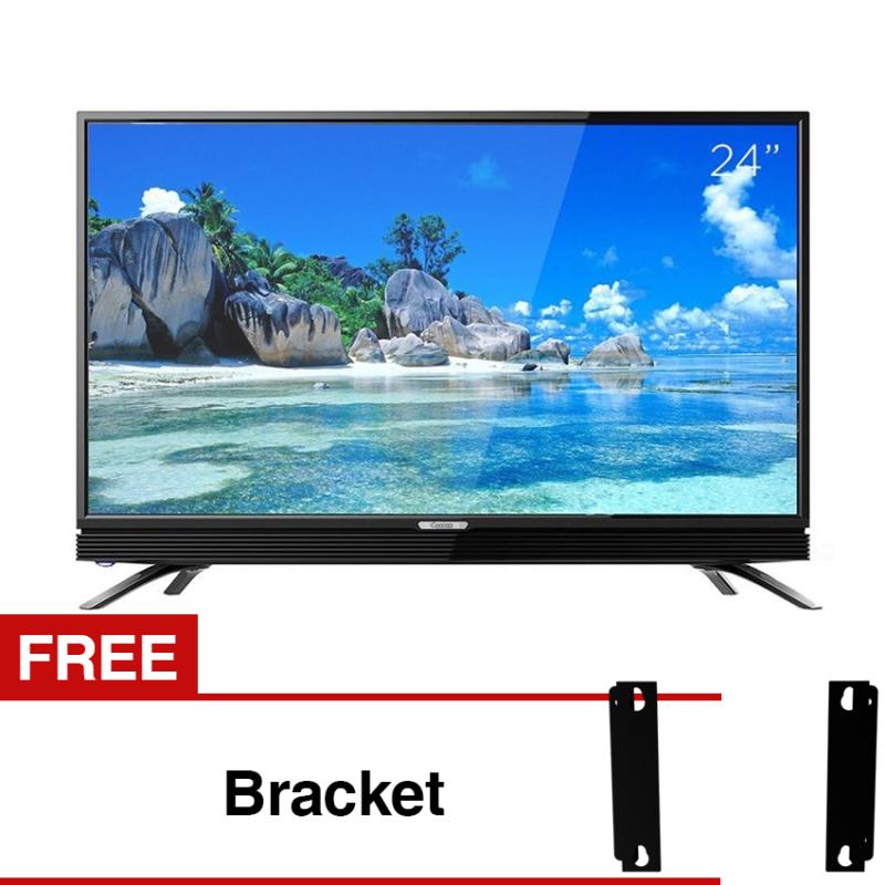 Coocaa 24 inch HD LED TV - Hitam (Model 24W3) Free Bracket