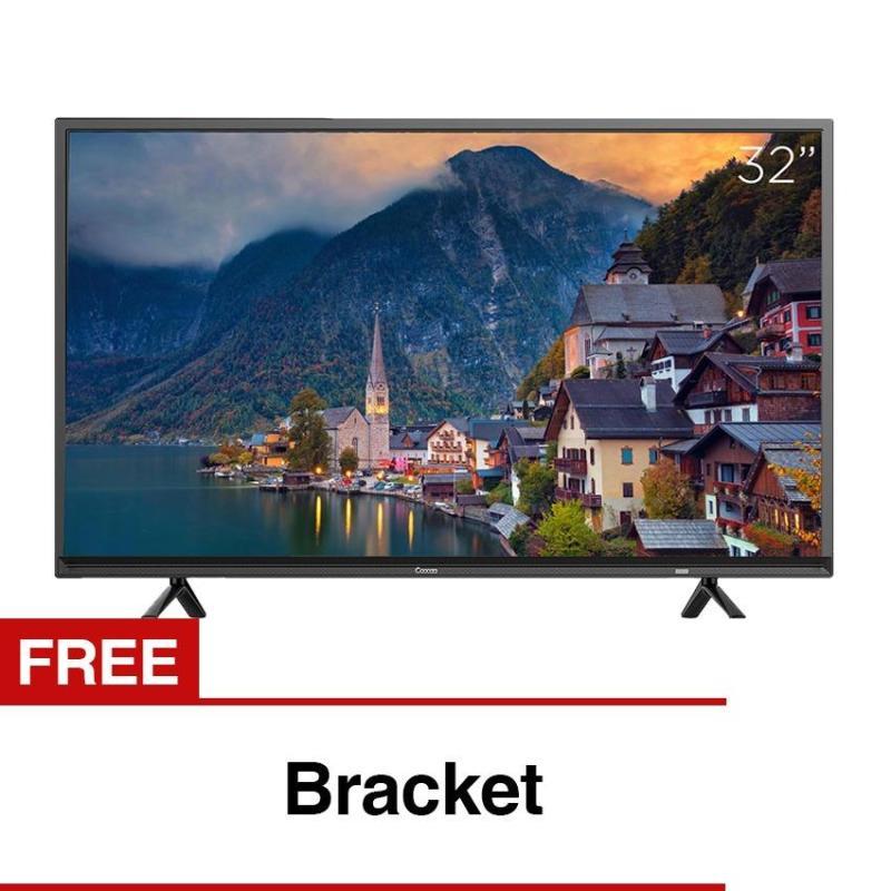 Coocaa 32 inch HD Digital LED TV - Hitam (Model 32E2A22G) with Free Bracket