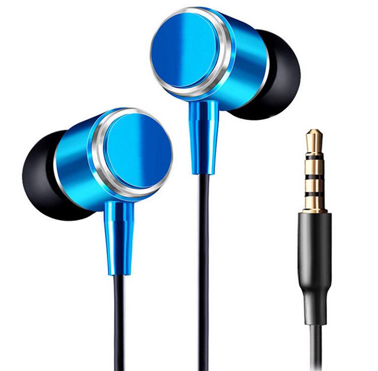 Cool Desain Keren Asli JMF 3.5 mm earphone Headphone Headset(Biru)