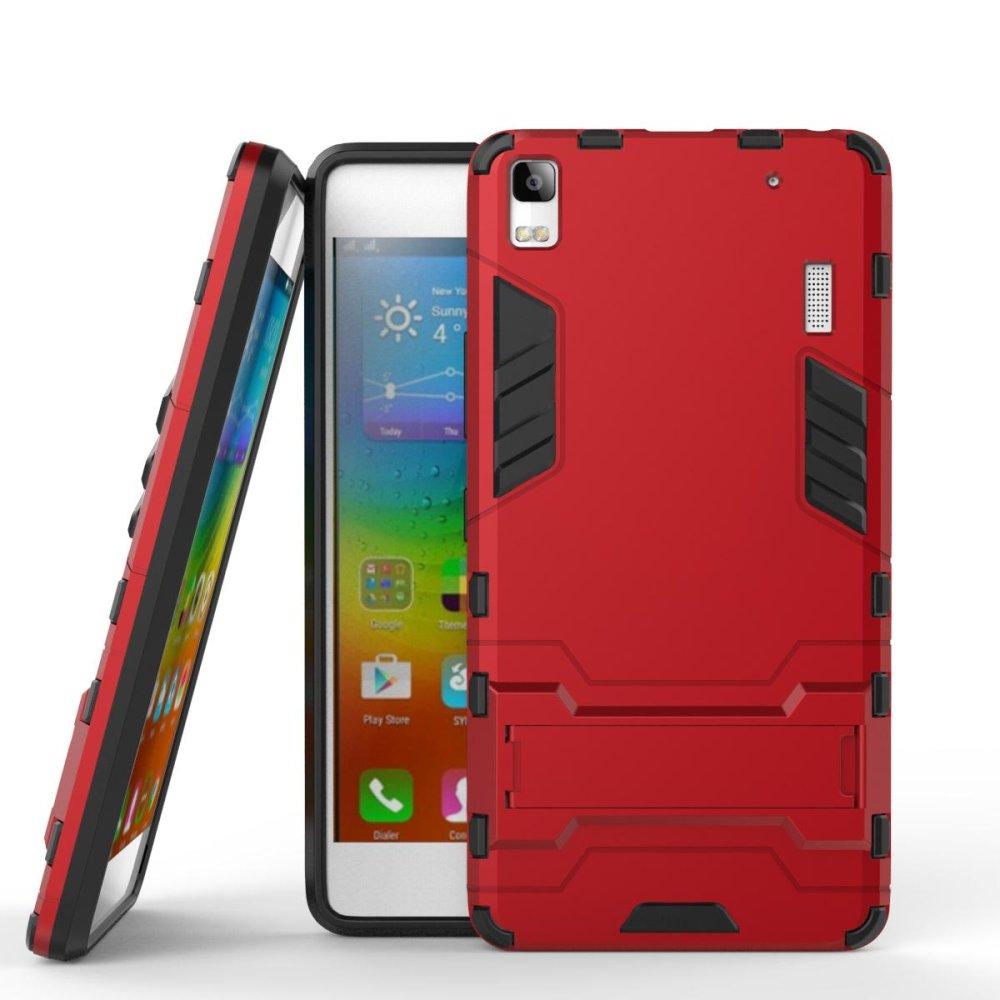 Cool Guard plastik plastik TPU Kickstand case untuk Lenovo A7000 / A7000 Plus .