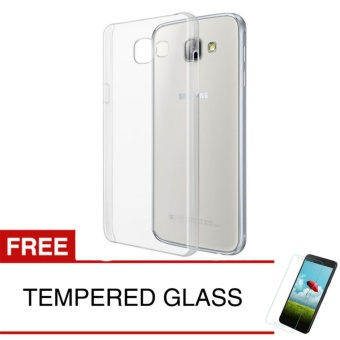 Crystal Case for Samsung Galaxy A9 Pro 2016 - Clear Hardcase - Gratis Tempered Glass .