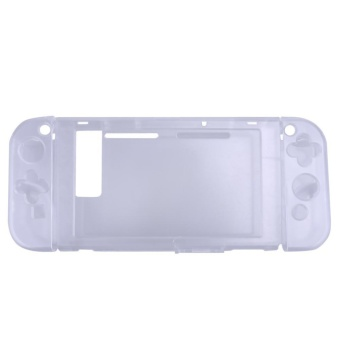 Crystal Protective Case Cover for Nintendo Switch NS Console and Controller(White) - intl
