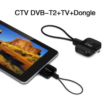 CTV DVB-T2+TV+Dongle Pad TV HD stick receiver TV Receiver Stick for Android (Black)