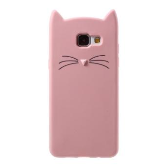 Cute 3 D Kumis Kucing Lembut Silicone Mobile Shell untuk Samsung Galaxy A5 (2016)