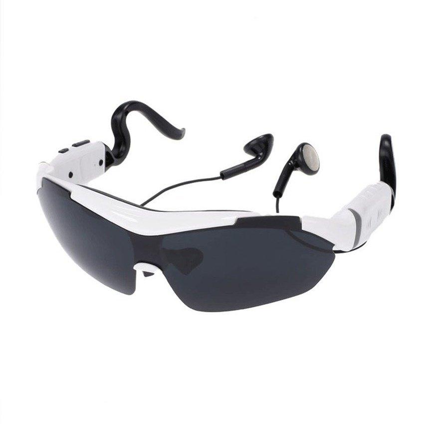 Bahasa: Inggris Cyber Sunglasses Bluetooth Suara Kontrol Sentuh Kontrol Talk Fungsi Headset Micphone Smart Kacamata (Putih)