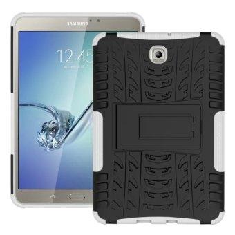 Dampak tinggi berbatu untuk berlindung dengan aman kejutan kasusstandarnya Samsung Galaxy Tab S2 8.0 T710 (putih)