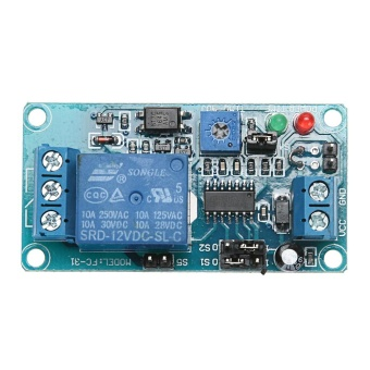 DC 12V Delay Relay Time Turn on / off Vibration Switch Module - intl