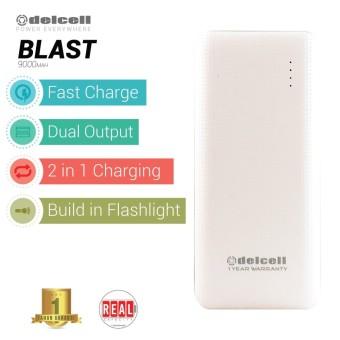 Delcell BLAST Powerbank 9000mAh Real Capacity Fast Charging - Putih