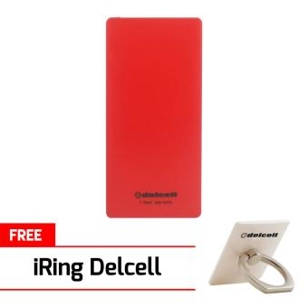 Delcell ECO Powerbank 10000mAh Real Capacity Red Free 1Pcs Delcell iRing Random Colour